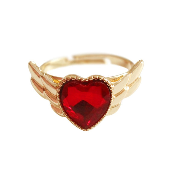 Sailor Moon Wings Heart Ring