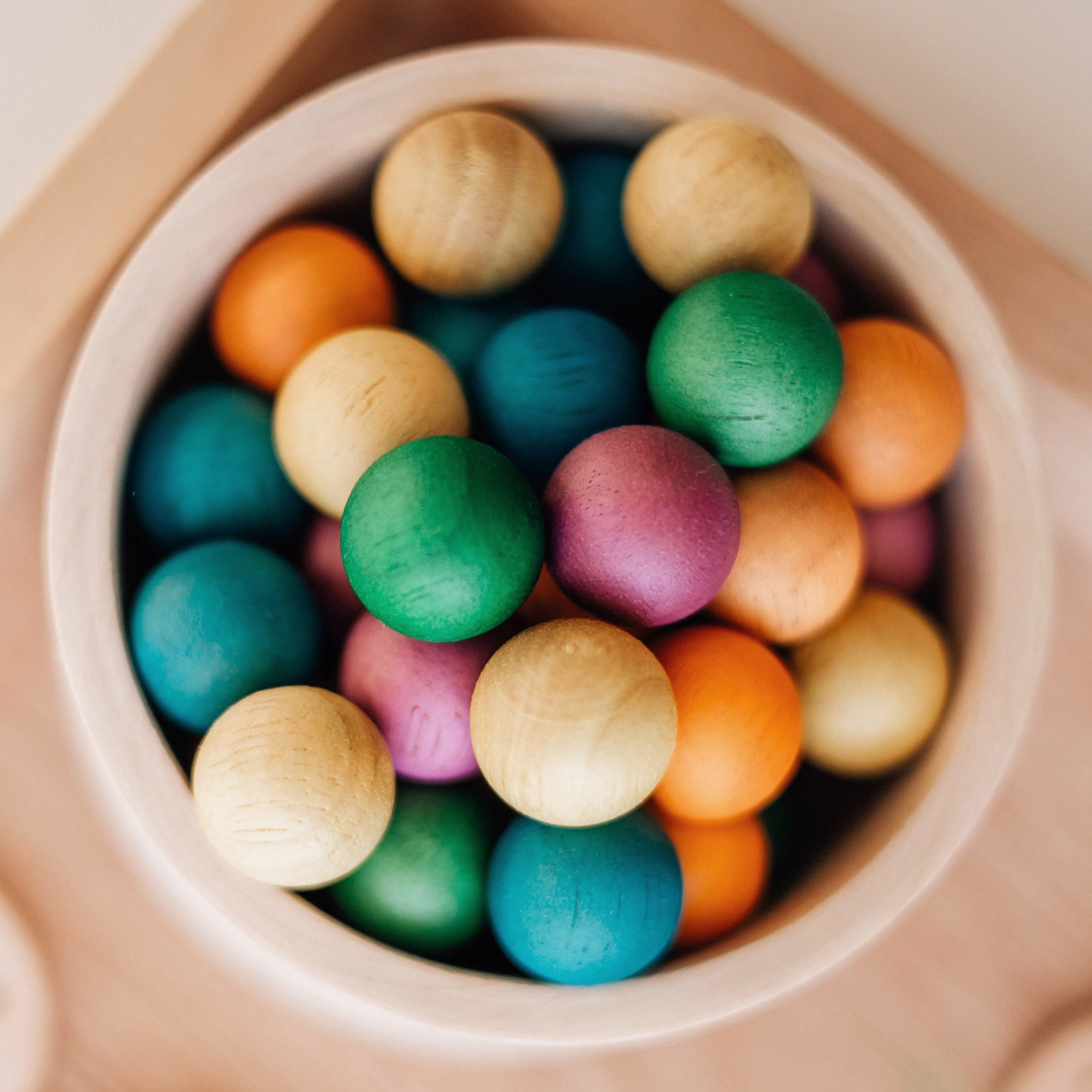 Wooden Balls Set of 50 in Color