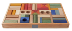 Load image into Gallery viewer, Rainbow Blocks in Tray - 54 pcs