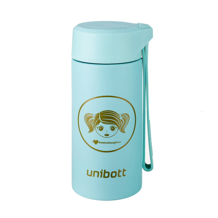 UNIBOTT DEB'S DAUGHTER BAIKAL SERIES 200 ML VACUUM INSULATED THERMAL WATER BOTTLE, BPA FREE STAINLESS STEEL,, BPA FREE, TEA INFUSER,(VB215A)