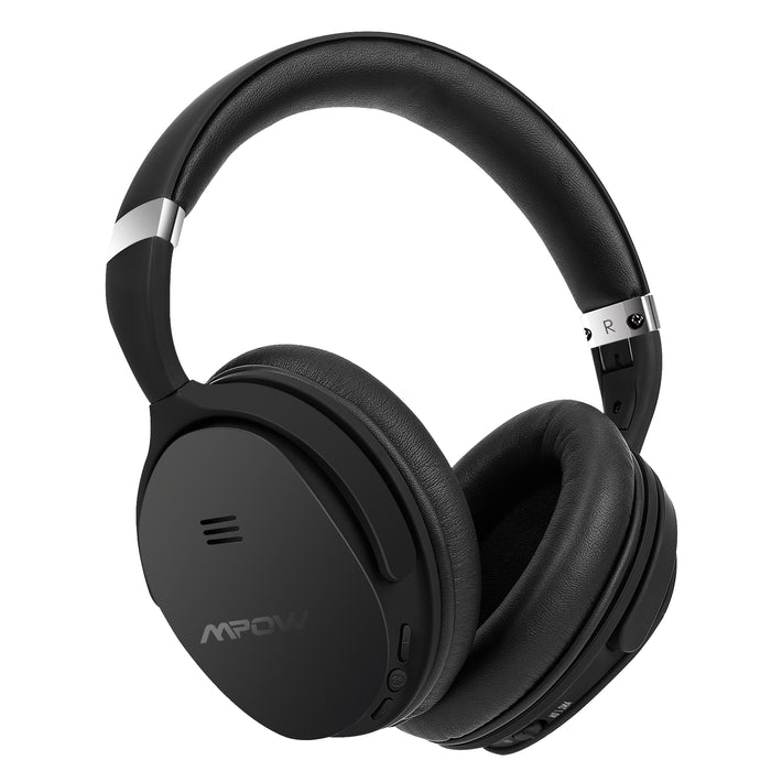 Mpow X4.0- Wireless Active Noise Cancelling Over Ear Headphones, Tange Free - Black (BMBH143CB)