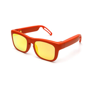 Mutrics Smart Audio Sunglasses Streaming Audio Via Bluetooth 5.0, Lithium battery, Polarizing lens, Water Resistance, Shatter and Scratch Resistance, Black Gray (MUSIG X-ORANGE)