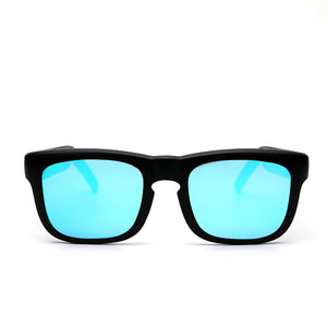 Mutrics Smart Audio Sunglasses Streaming Audio Via Bluetooth 5.0, Lithium battery, Polarizing lens, Water Resistance, Shatter and Scratch Resistance, Black Blue (MUSIG X-BLACK-BLUE)