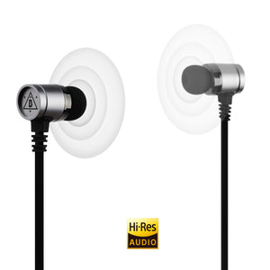 Ninety Plus B.Howard Celebrity Series, Hi-Res Earphone with Build in Microphone - Gun Metal Color, Compitable With All Mobile Device with 3.5mm Plug (NP-AUS100GM)