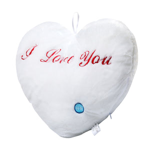 OPIKZONE Magical Lightning Cushion Love Heart Shaped Glowing LED Pillow Changing Light Up Soft Cushion