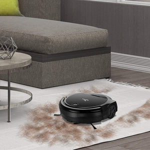 Euleven 3-in-1 Floor Robotic Vacuum With Smart Mopping Cleaner For Hardwood Floor, Carpet, HEPA Filter For Pet Hair Allergies Friendly (SYJ-3071B_BK)