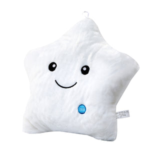 OPIKZONE Magical Lightning Cushion Love Star Shaped Glowing LED Pillow Changing Light Up Soft Cushion