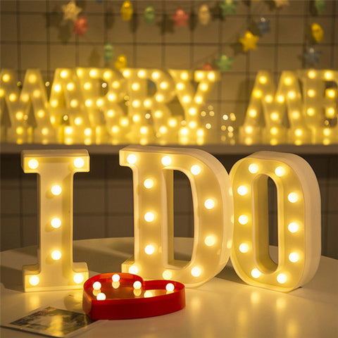 Romantic Alphabet Letter Lights Wedding party DIY