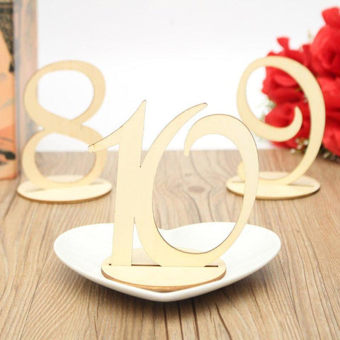 10pcs Table Number Cards Wooden Wedding Party Ornament Craft Home Decoration Make Of Wood Plywood wedding decoration