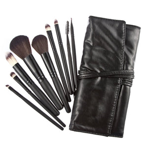 9 pcs Maquiagem makeup brushes set Eyeshadow Pro Cosmetic Makeup Brushes Set kit Black pinceaux brochas pincel maquillage