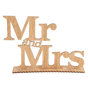 Mr and Mrs Wooden Letters Wedding Decoration