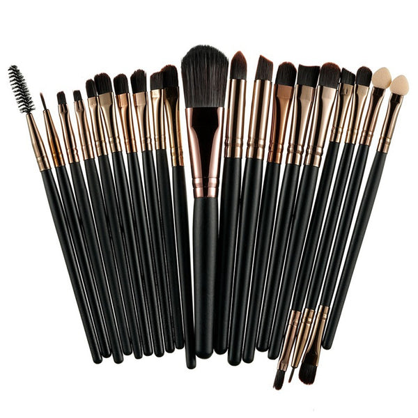 ROSALIND 20Pcs Professional Makeup Brushes Set Powder Foundation Eyeshadow Make Up Brushes Cosmetics Soft Synthetic Hair