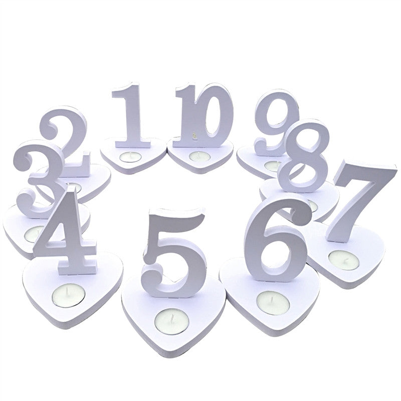 Stylish Vintage Number 1-10 Decorative Table Number Seat Place Mat Cards Holder