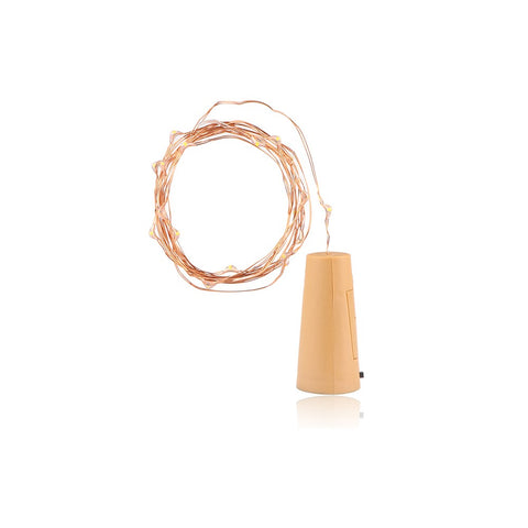 2m Copper Wire String Light with Bottle for Glass Craft Bottle Wedding Decoration Warm Lamp Holiday Party Light for Christmas