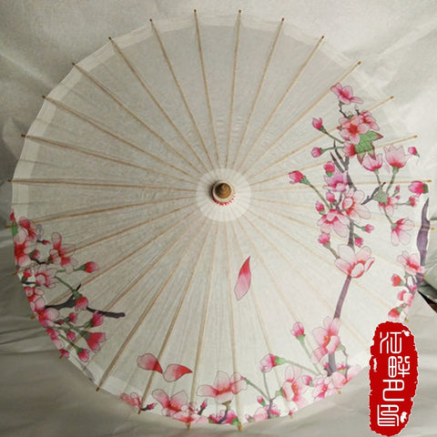 Pink Peach Oil Paper Umbrella Dance Film Cosplay Tools Decoration Collection Classical Lady Parasol Chinese element Wedding Gift
