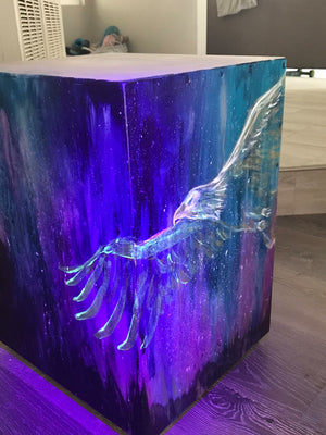 One-of-a-Kind, Expressionist Painted Box Model Cajon
