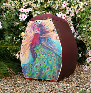 One-of-a-Kind, Expressionist Painted Pro-Series Model Cajon