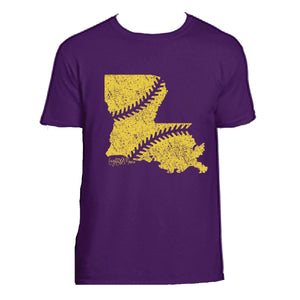 Purple & Gold Louisiana Baseball