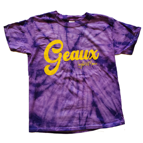 Youth Geaux Tie Dye Shirt