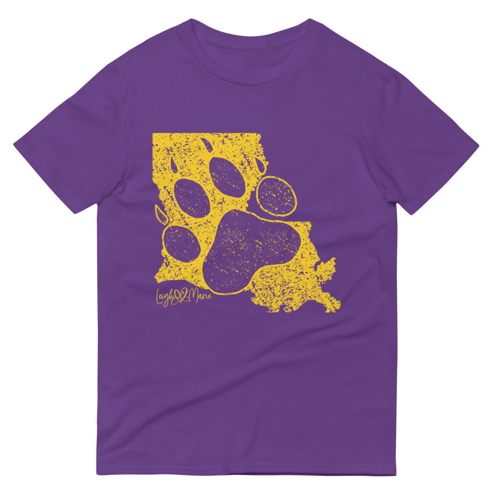Purple & Gold LA Paw Short-Sleeve T-Shirt