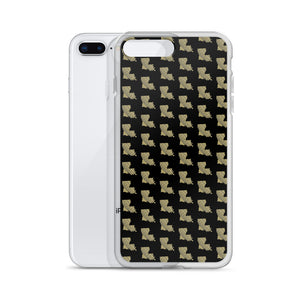 La Black & Gold Pattern iPhone Case
