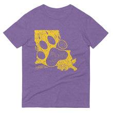 Load image into Gallery viewer, Purple & Gold LA Paw Short-Sleeve T-Shirt