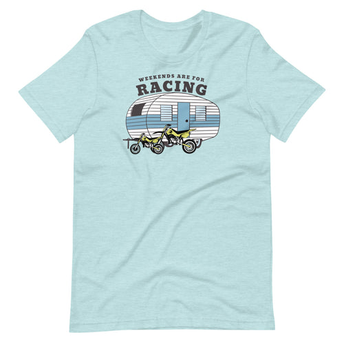 Weekends are for Racing Short-Sleeve Unisex T-Shirt