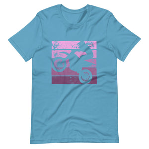 Pink Lady Dirtbike Ombre Short-Sleeve Unisex T-Shirt