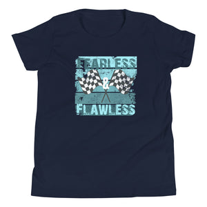 Fearless & Flawless flag Youth Short Sleeve T-Shirt