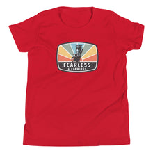 Load image into Gallery viewer, Fearless & Flawless Sunset Youth Short Sleeve T-Shirt