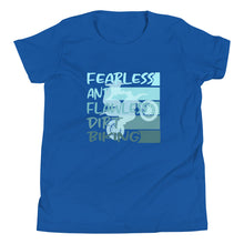 Load image into Gallery viewer, Fearless and Flawless ombre Youth Short Sleeve T-Shirt