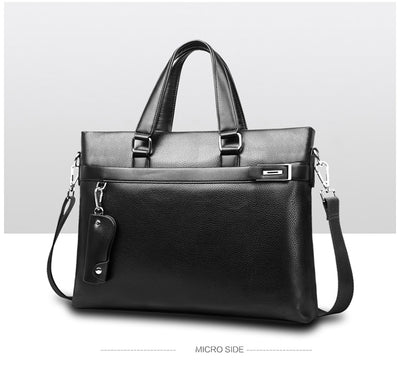 Bag Men Briefcase PU Leather Men Bags Business Brand Male Briefcases Handbags