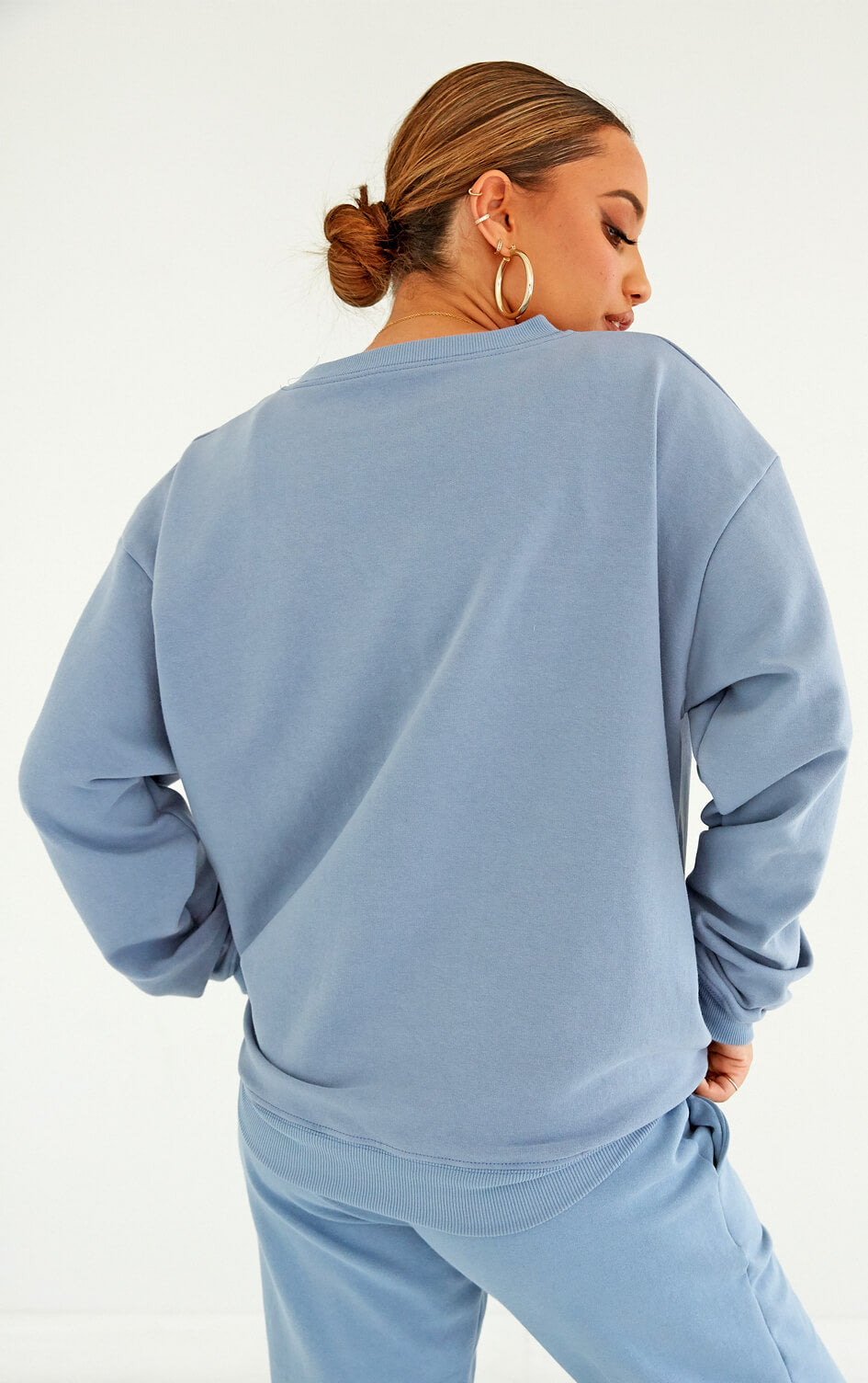 shop-dana-scott-fall-collection-denim-blue-cotton-fleece-crewneck-sweatshirt-matching-set