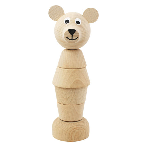 Children's wooden stacking puzzle bear toy