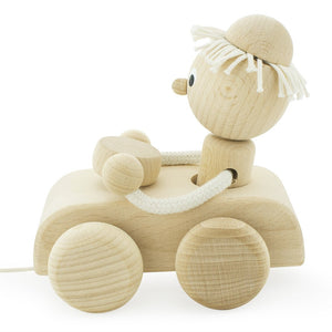 Children's Car Pull along Wooden Toy