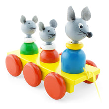 Load image into Gallery viewer, The Mouse Family Pull Along Wooden Toy
