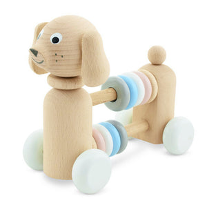 Children's wooden toy dog