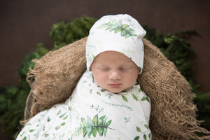 Enchanted – Baby Jersey Wrap & Beanie Set