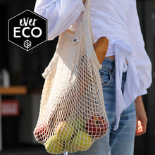 Load image into Gallery viewer, Ever Eco Organic Cotton Net Tote Bag - Long Handle