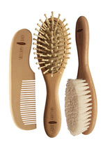 Load image into Gallery viewer, Wooden Hairbrush Set