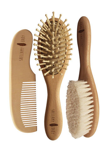 Wooden Hairbrush Set