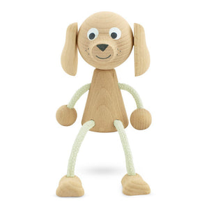 Riley the wooden sitting dog