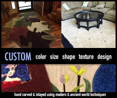 Custom Area Rugs and Unique Area Rugs. We build area rugs to a custom shape, size, color, or design. Indiana Rug Co. InRugCo