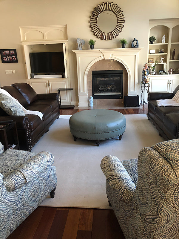 custom area rug white livingroom carpet