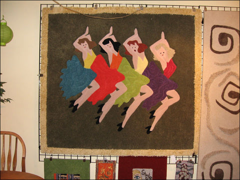 Dancing Ladies Custom Area Rug