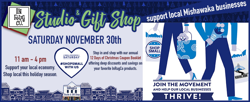 small business saturday with inrugco studio & gift shop