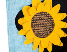 Load image into Gallery viewer, Scarecrow Season Garden Burlap Flag | Evergreen