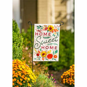 Home Sweet Home Garden Linen Flag | Evergreen - InRugCo Studio & Gift Shop