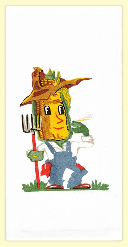 Corn Guy Tea Towel | Red & White Kitchen Company - InRugCo Studio & Gift Shop