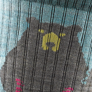 Bear Town Micro Crew Light Cushion Sock - Women's | Darn Tough - InRugCo Studio & Gift Shop